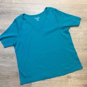 Lane Bryant VNeck Short Sleeve Top